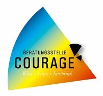 Hier sehen Sie das Logo von Courage